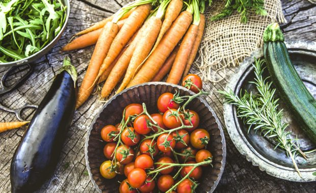 specialty crop vegetables - eggplant, tomato, squash, carrot